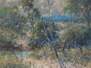 Sale 8980A - Lot 5025 - Reginald Rowe (1916 - 2010) - Near Bundanoon II 29 x 39.5 cm (frame: 45 x 55 x 3 cm)