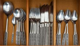 Sale 9164H - Lot 89 - A quantity of Thai silver plated cutlery