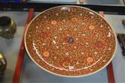 Sale 8189 - Lot 2170 - Famille Rose Plate