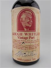 Sale 8454W - Lot 53 - 1x 1980 Lindsay Point Vineyard Gough Whitlam Vintage Port, South Australia - signed by Gough Whitlam
