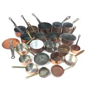 Sale 8872C - Lot 13 - Assortment of French Copper Pans (22)
