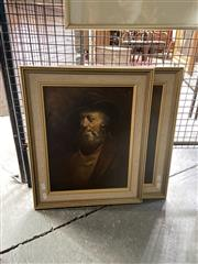 Sale 8910 - Lot 2048 - Artist Unknown (two works) The Battlers, oil paintings, 51 x 41 cm each -