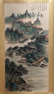 Sale 8951S - Lot 31 - Chinese Landscape Scroll, Ink and Colour on Paper