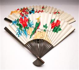 Sale 9119 - Lot 156 - A pair of Chinese fans (L: 49cm)