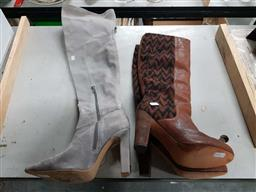 Sale 9176 - Lot 2264 - 2 Pairs of Boots, size 39 & 39&1/2