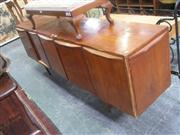 Sale 7944A - Lot 1057 - Raised 4 Door Sideboard with Fitted Interior & Secret Drawer to Side (Some Veneer A/F)