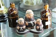 Sale 8276 - Lot 57 - German Monk Cruet Set With Similar Figures
