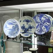 Sale 8365 - Lot 43 - Oriental Blue & White Chargers