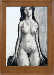 Sale 8467 - Lot 564 - Martin Sharp (1942 - 2013) - Nude, 1962 62.5 x 43.5cm