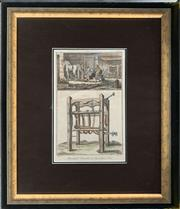 Sale 8682 - Lot 2020 - Antique Hand-Coloured French Engraving, 67.5 x 57.5cm (frame size)