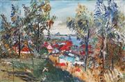 Sale 8764 - Lot 529 - Harald Vike (1906 - 1987) - Afternoon Light, Sandgate Brisbane 1985 61 x 91cm
