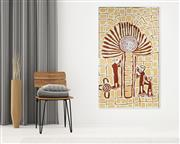 Sale 8971A - Lot 5075 - Ruby Daniels Nungala (1961 - ) - Windmill and Spiritmen 150 x 90 cm (stretched and ready to hang)