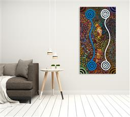 Sale 9128A - Lot 5051 - Rachael Nambula (c1970 - ) - Pencil Yam Dreaming 175 x 93.5 cm (stretched and ready to hang)