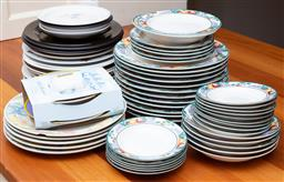 Sale 9190H - Lot 419 - A large quantity of crockery including dinner plates