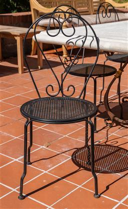 Sale 9248H - Lot 289 - Set of 8 French style Bistro chairs height 90cm