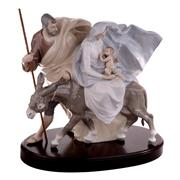 Sale 8000 - Lot 146 - A Lladro figural group of the Holy Family, with donkey, printed and impressed marks to base.