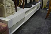 Sale 8031 - Lot 1088 - Modern White TV Cabinet