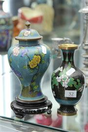 Sale 8276 - Lot 52 - Cloisonne Vase With Another