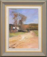 Sale 8286 - Lot 505 - Colin Parker (1941 - ) - Afternoon Walk 37 x 27cm