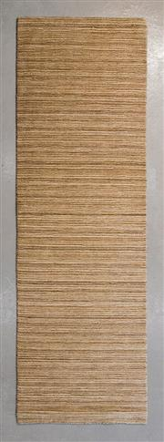 Sale 8480C - Lot 18 - Indian Stripe runner 250cm x 75cm