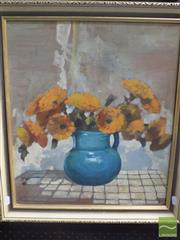 Sale 8513 - Lot 2029 - Artist Unknown - Still Life with Flowers 47 x 40cm