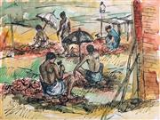 Sale 8945 - Lot 2042 - Artist Unknown (C20th) - Stone Cutters 38 x 50.5 cm