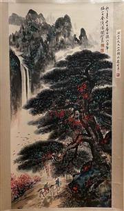 Sale 8951S - Lot 33 - Chinese Landscape Scroll, Ink and Colour on Paper