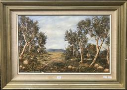 Sale 9103 - Lot 2009 - Raymond Reeves Stoney Creek, 1988 oil on canvas, 57 x 77cm, signed, dated and titled