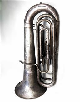 Sale 9142A - Lot 5014 - Victorian Tuba made by Besson and Co London U.K Class A prototype, 83 x 43 cm