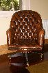 Sale 3660 - Lot 57 - A LEATHER EXECUTIVE CHAIR