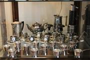 Sale 8081 - Lot 96 - Italian Coffee Pot with Other Wares including Flavelle & 2 Overlaid Silver Candlesticks
