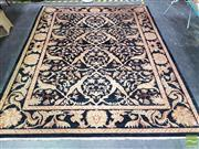 Sale 8431 - Lot 1024 - Hand Knotted Indian Carpet in Blue Tones (246 x 304cm)