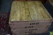 Sale 8550 - Lot 1527 - Set of 10 Recycled Elm Table Tops  (80 x 80)