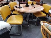 Sale 8680 - Lot 1087 - Retro Kitchen Table and 4 Chairs