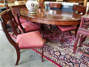 Sale 8740 - Lot 1269 - Mahogany Extension Dining Table with 8 Chairs