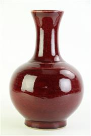 Sale 8869C - Lot 615 - A Large Chinese Flambe Vase (H 34cm)