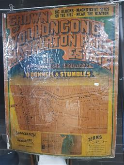 Sale 9152 - Lot 2468 - Land Sale Poster Crown of Wollongong 11th December 1920