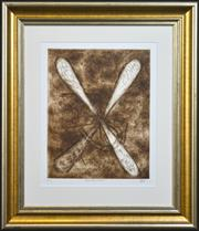 Sale 8325A - Lot 30 - Kevin Charles (Pro) Hart (1928 - 2006) - Dragonfly & Ants 50 x 39cm