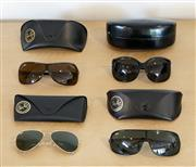 Sale 8450 - Lot 70 - Collection of Ray-Ban (3) and Roberto Cavalli (1) Sunglasses, each with original cases; Aviator (1) Gold Metal Frame (as new), Singl...