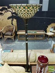 Sale 8532 - Lot 1022 - Leadlight Shade Up Lamp