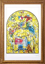 Sale 8562A - Lot 59 - After Marc Chagall - The Tribe of Levi, 1964 total size inc frame 102 x 74cm