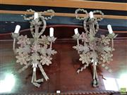 Sale 8611 - Lot 1006 - Pair of Metal Wall Sconces