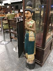 Sale 8697 - Lot 1635 - Carved Thai Woman