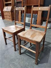 Sale 8740 - Lot 1707 - Pair of Timber Chairs