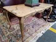 Sale 8740 - Lot 1277 - Marble Top Coffee Table with Brass Base