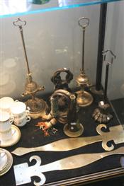 Sale 7874 - Lot 89 - Brass Trumpet, Georgian Brass Door Stop, Pair of Sacrestry Lamps  & Other Metal Wares (51, 59, 176, 181)