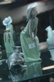 Sale 7876 - Lot 5 - Lladro Figure of a Lady in Green Dress & Lladro Cat & Mouse Figure