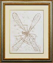 Sale 8301A - Lot 44 - Kevin Charles (Pro) Hart (1928 - 2006) - Dragonfly & Ants 48 x 38cm