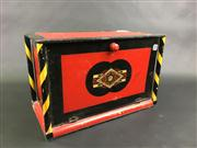 Sale 8539M - Lot 112 - Magicians Magic Trick Box, elaborate construction with fine decorations, 30cm W x 15cm D x 19cm H