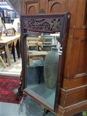 Sale 8620 - Lot 1054 - Chinese Timber Framed Mirror (100 x 58cm)